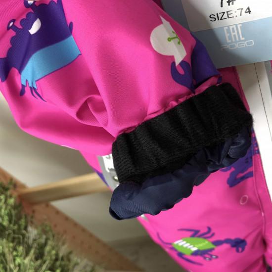 Демисезонный мембранный комбинезон Pogo Kids Крабы  Розовый 88885-7