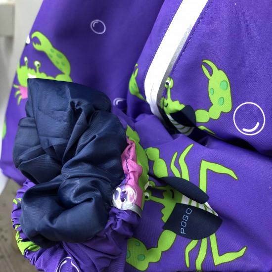 Демисезонный мембранный комбинезон Pogo Kids Крабы  Фиолетовый  88885-8