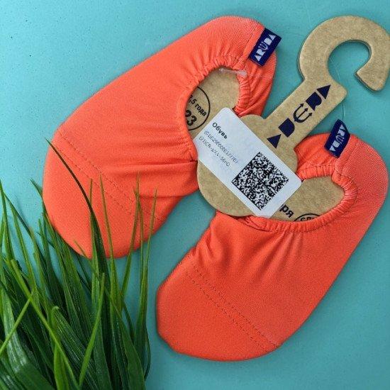 Антискользящие аквачешки Оранжевые BO-89045
