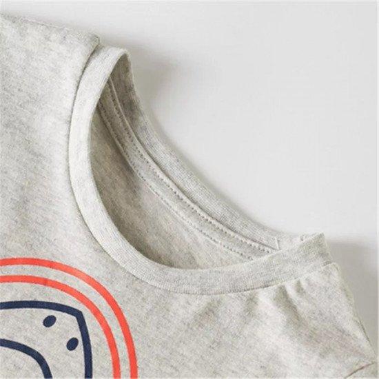 Хлопковая футболка с принтом акулы MW-1663